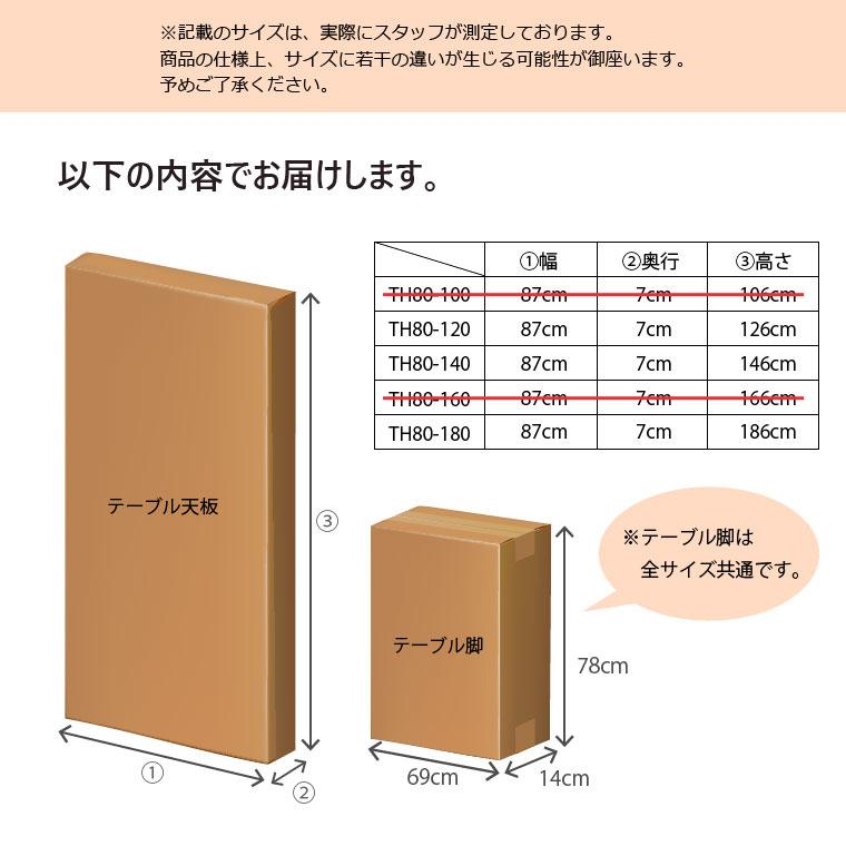 梱包内容。天板1梱包、脚1梱包